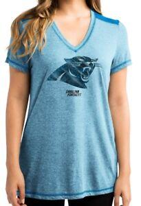 """Carolina Panthers Women's Majestic NFL """"Bright Lights"""" V-neck Fashion Top"""