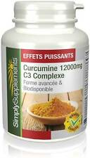 Curcumine 12000mg C3 Complexe - Articulations - Anti inflammatoire - 90 Gélules