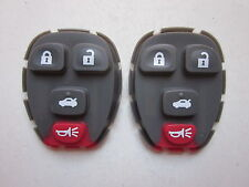 2 X NEW REPLACEMENT RUBBER BUTTON PAD FOR GM REMOTE 15252034 22733523