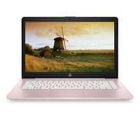 "NEW HP Stream 14"" HD Intel N4000 4GB RAM 32GB eMMC Rose Pink + 1-year Office 365"