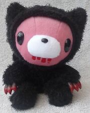 "Official Chax GP TAITO Gloomy Bear Black Pink Cat Soft Plush Toy Japan Kawaii 8"""