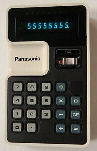 Vintage Panasonic calculator model 840 with case. Tested WORKS