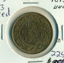 1895 Canada 1 Cent Coin ; UNC ; MS 63  Red