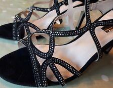 Glitzernde schwarz Riemchen Dorothy Perkins HEELS/Party Schuhe Größe UK 7 nie getragen