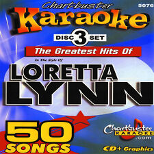 Greattest Hits Karaoke  Lorreta Lynn CD+G Chartbuster 3 Disc 5076 with Song List