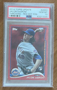 2014 Topps Update Red Hot Foil #US50 JACOB DEGROM RC Rookie Card PSA 10 Gem Mint