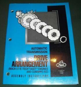 MACK DRIVE ARRANGEMENT AUTOMATIC TRANSMISSION ENGINE SERVICE ASSEMBLY MANUAL