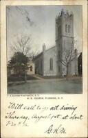 Queens Flushing Long Island NY ME Church c1905 Postcard