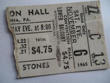 ROLLING STONES__1965__Original CONCERT TICKET STUB__Philadelphia, PA