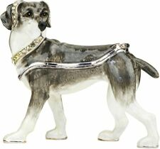 Ciel Collectible Tosa Dog Doggy Swarowski Jeweled Trinket Jewelry Box Casket.