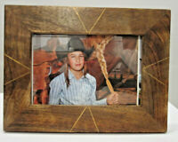 """Rust Dark Walnut Wood Country Style 4""""x6""""  Picture Photo Frame"""
