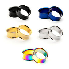 Pair of Steel Double Flare Tunnels plugs gauges Choose Size and Color