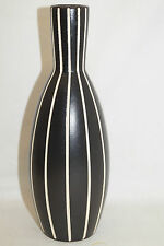 Kunstkeramik Vase schwarz weiss gestreift höhe ca20cm 1123-24W