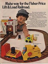 Vintage Fisher Price Lift & Load Railroad Ad 1978