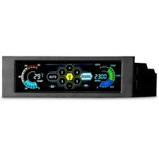 """5.25"""" PC 5 Channel Cooling Fan Automatic Speed Controller With LCD Monitor D3w3"""