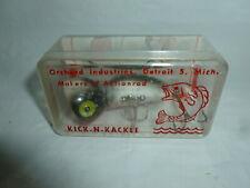 Vintage 2-1/2 Inch Plastic Kick-N-Kackle Fishing Lure w/ Box Lot E-535