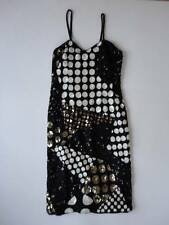 Vintage Black & White Silk Sequin Evening Dress & Matching Jacket Size M India