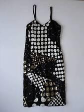 Vintage Black & White Silk Sequin Evening Dress & Matching Jacket Size M India
