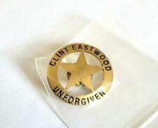 Vintage 1990s Unforgiven Metal Movie Promo Badge Pin - Clint Eastwood Button