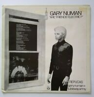 "Gary Numan Are Friends Electric Vinyl 12"" Record Promo Tubeway Army Synth-Pop"