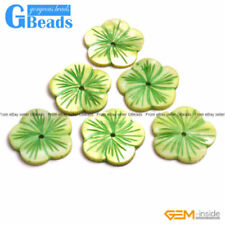 Green Flower Jewellery Making Beads