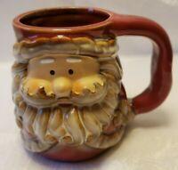 Santa Claus Face 3D Coffee Cup Mug Tea Cocoa Figural Red Christmas Season    5R1