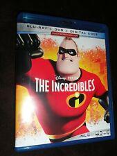 The Incredibles (Blu Ray & Dvd Set) 2004 Film Animated Disney Pixar