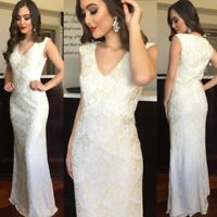 Wedding Formal Gown Size 12 Off White With Gold Gold