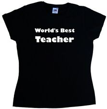 World's Best Teacher Ladies T-Shirt