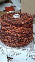 fil a tricoter Laine et Acrylique 800 grammes Marron-Orange