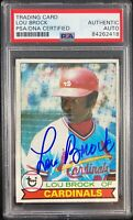 Lou Brock auto card 1979 Topps #665 St. Louis Cardinals PSA Encapsulated