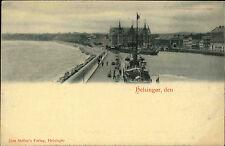 Helsingør Dänemark ~1900 Hafen mit Schiffen Ships Verlag Jens Møller ungelaufen
