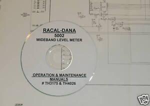 RACAL-DANA 5002 OPERATING & MAINTENANCE MANUALS  2-Vols