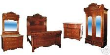 American Victorian Bedroom Suite, Original Condition 4-pc  #743