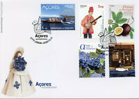Portugal Tourism Stamps 2020 FDC Azores Fruits Flowers Music Whales 5v S/A Set