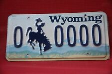 1990 s WYOMING License Plate License Plate  *** SAMPLE ***