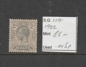 MALTA SG 100, 2d grey, Fine  MINT