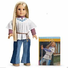 AMERICAN GIRL JULIE DOLL and  & BOOK NIB Paperback 18 inches Retired