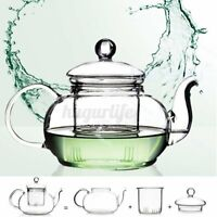 350mL-1000mL Heat Resistant Glass Teapot Infuser Infusing Tea Coffee Pot  R! R