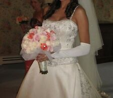 A Princess Wedding Dress- Priscilla of Boston STRPLSS SILK SATIN. IVORY Size 2-8