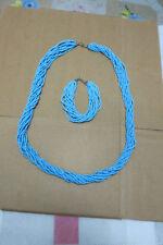 Exquisite tibet blue coral beads Necklace& bracelet