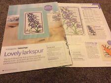 Lovely Larkspur - Delphinium July Birth Flower cross stitch chart Only (414)