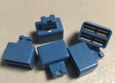 5 Bringing Clips Blue Connectors Telecom See Photos, Fast Ship