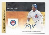 2012 Topps Golden Moments autographed baseball card Marlon Byrd, Chicago Cubs