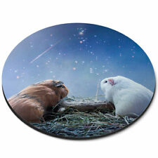 Round Mouse Mat - Cute Guinea Pig Funny Love Office Gift #2036
