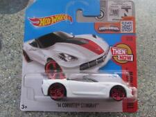 Hot Wheels 2016 #107/250 2014 CORVETTE STINGRAY white Then and Now Case B