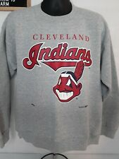 Vintage 1993 Cleveland Indians Men's Nutmeg MLB Sweatshirt Large Gray
