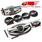 7pcsset 3d Silver Wing Badge Emblem Sticker 30 Off For Hyundai Genesis Coupe