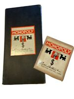 1935 Early Patent Monopoly Game Black Board 1933 Complete Set Vintage Family Fun