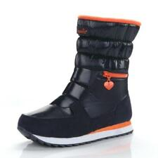 Womens Winter Snow Fur Warm Mid Calf Casual Ankle Boots Flat Waterproof Shoes